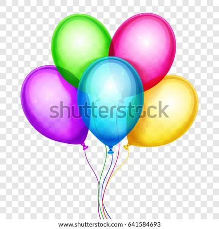 Purple Balloon On Transparent Background Stock Vector ...