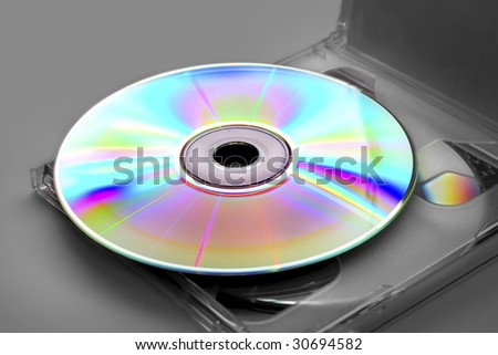2 compact disc or a dvd-disk in a plastic box