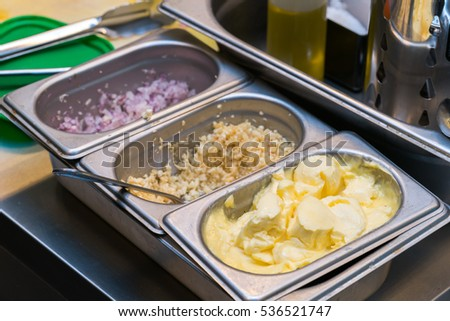 Condiment in kitchen
