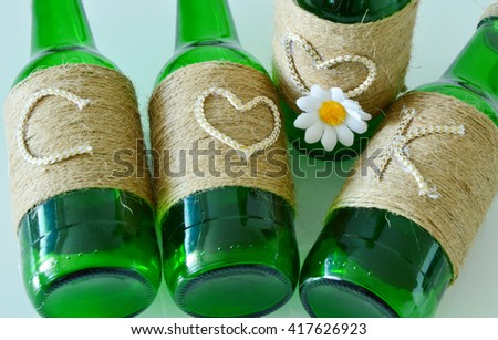 ''Cook'' Craft Ideas Using Waste Glass Bottles.
