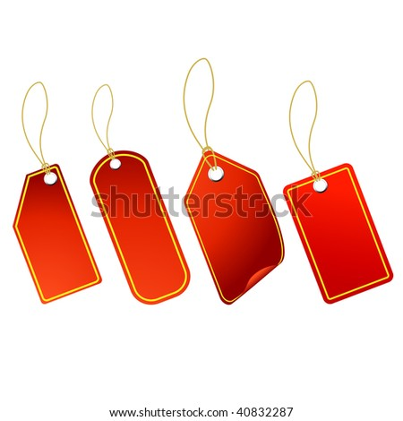 4 cool RED tags
