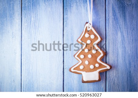 cute ginger bread cookie christmas tree