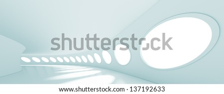 3d Abstract Panoramic Architecture Background