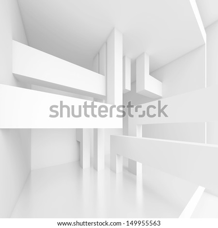 3d Abstract Panoramic Interior Background