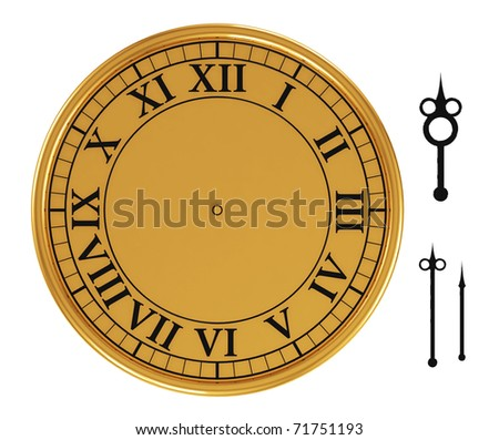 Vintage Clock Face Template Hour Minute Vector 145881668 – Clock Face Template