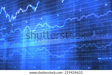 3D Background image of a business stock market chart with data