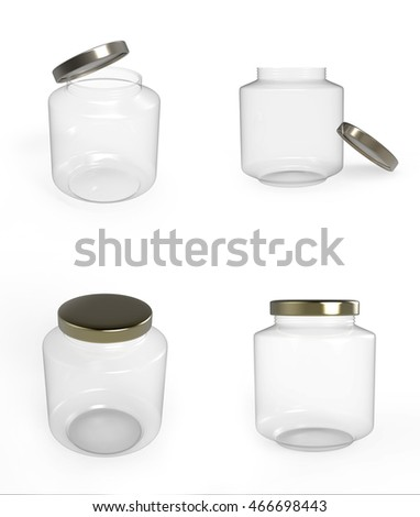 3D bottle on a white background set