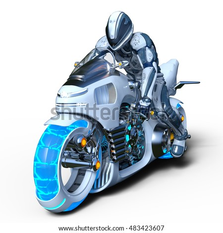 3D CG rendering of a robot