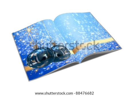 3D Christmas balls picture book