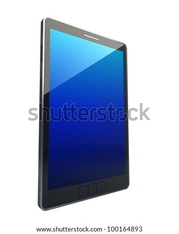 3D computer, digital Tablet pc, isolated on white background High resolution