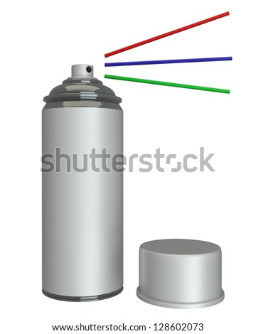 3d concept of a can. Isolated white background. high resolutio