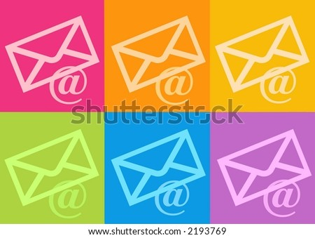 3d email symbol - computer generated clipart