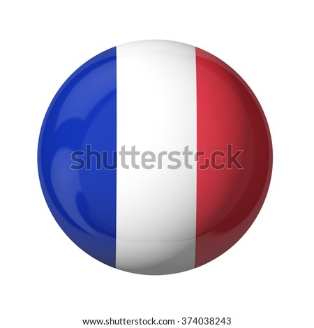 3D flag of France isolated on white