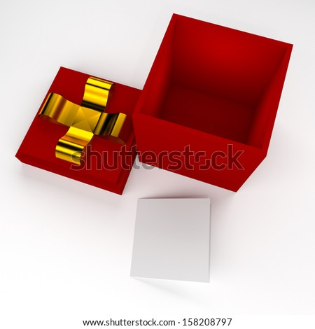 3d gift box metaphor concept