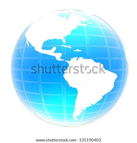 3d globe icon with highlights