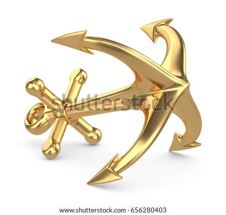 3d gold anchor photo - photo #9