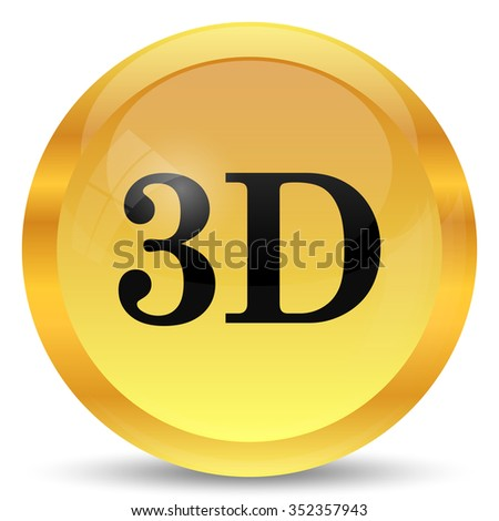3D icon. Internet button on white background.