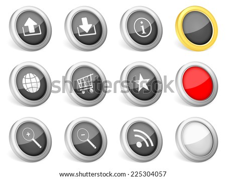 3d icons internet symbol on white background.