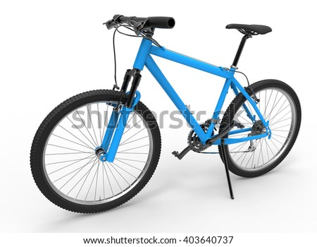 3D illustration of a blue bike
