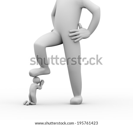 3d Human Shake Hand Hide Knife Stock Illustration