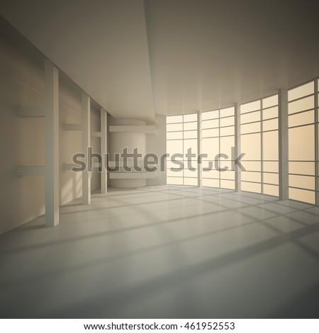 3d illustration empty cement parking garage stock for 3d garage builder