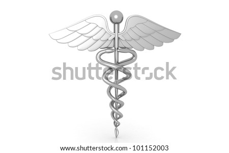 3d medical logo on a white background