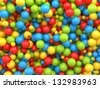 3d mixed color balls background - stock photo