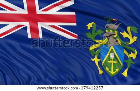 3D Pitcairn Islands Flag