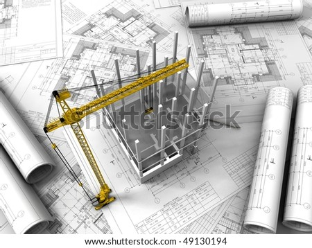 3d Plan Drawing Stock Illustration 27665047 Shutterstock