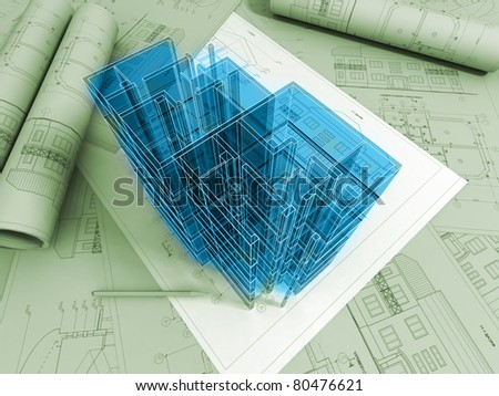 3d Plan Drawing Stock Illustration 68200195 Shutterstock