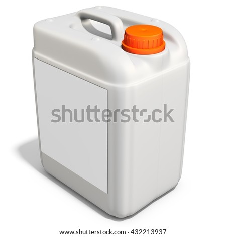 3d plastic canister, container  on white background 3D illustration
