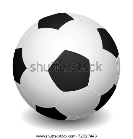 3d realistic soccer ball icon with shadow.