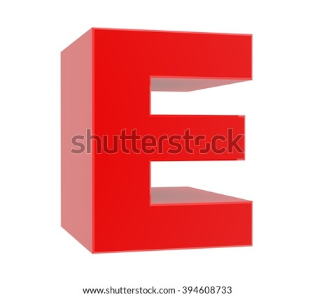 Letter E Stock Illustration 63138883 - Shutterstock