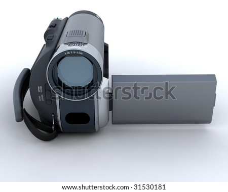 3D Render of a digital video camera
