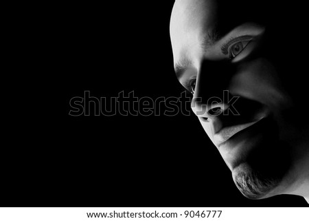 3D render of a male face