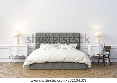 3d render of beautiful  bedroom