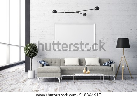 3d render of beautiful interior living  design