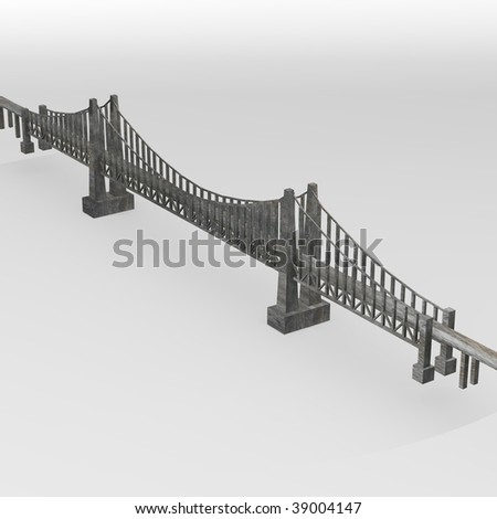 3d render of bridge (architecture element)