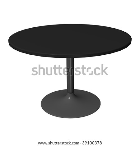 3d render of cafe table