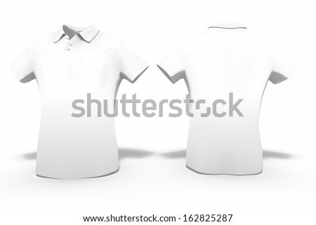 3d render of man polo shirt for use as a template