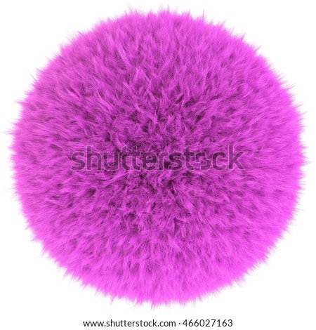 3D render of the pink fur sphere
