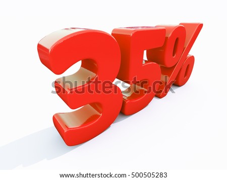3d Render: Percent Discount 3d Sign on White Background, Special Offer