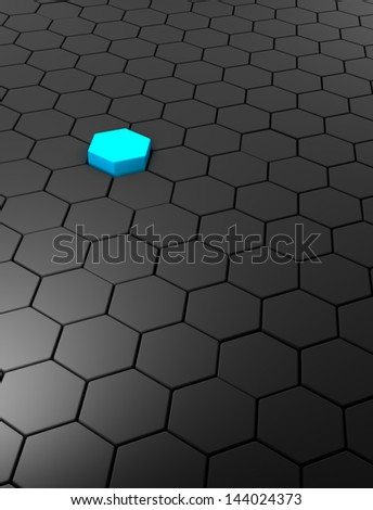 3D rendered abstract background with hexagons