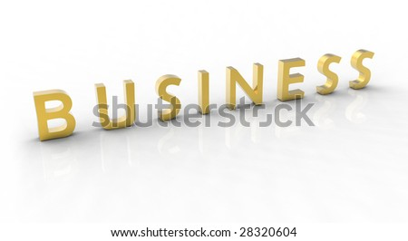 3d rendered golden text on a white background. 5500x3000 pixels.