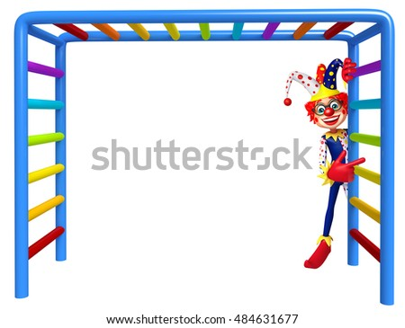 3d rendered illustration of Clown with Climbing