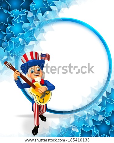 3d rendered illustration of Uncle Sam