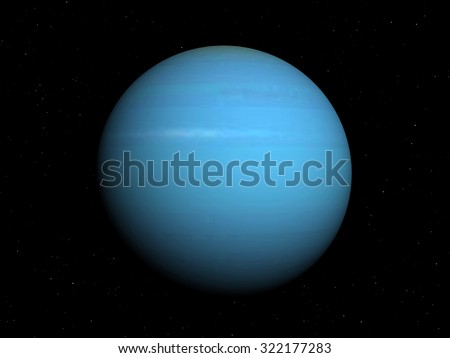 3d rendered Image of the uranus on a black background, high resolution. Elements of this image furnished by NASA