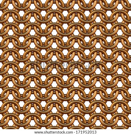 3D rendered seamless  chain armor pattern