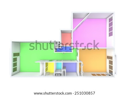 Architecture Model Showing Apartment Stock Illustration