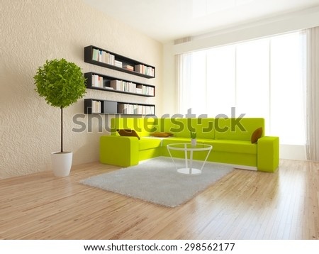 3d rendering of a beige interior